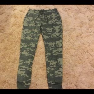 Camo Rue21 Lace-Up Joggers